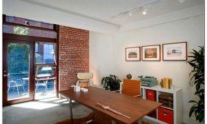 Современная красота текстур: 25 кабинетов для дома с кирпичными стенами