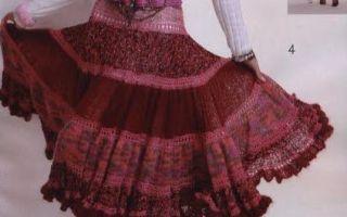 Юбка из мохера спицами юбка пышная с короткими воланами
