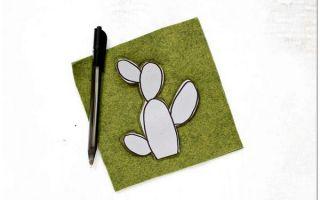 Handmade игольница в виде кактуса
