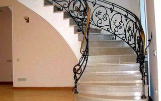 Перила для лестниц, их виды и материалы