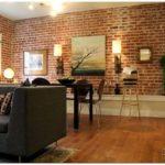 25 Стильных гостиных с кирпичными стенами