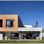 Двухэтажный дом необычной формы из бразилии