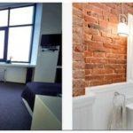 Идеи дизайна ванной комнаты с кирпичными стенами