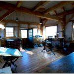Небольшая отдельно стоящая студия для художника в горах штата массачусетс