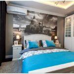 Обои с фотоизображением для большой и маленькой спальни