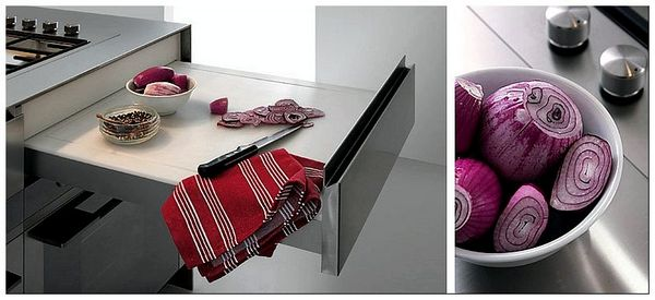Beautiful-and-practical-chopping-board-in-the-kitchen-that-disappears-into-the-top-drawer - копия