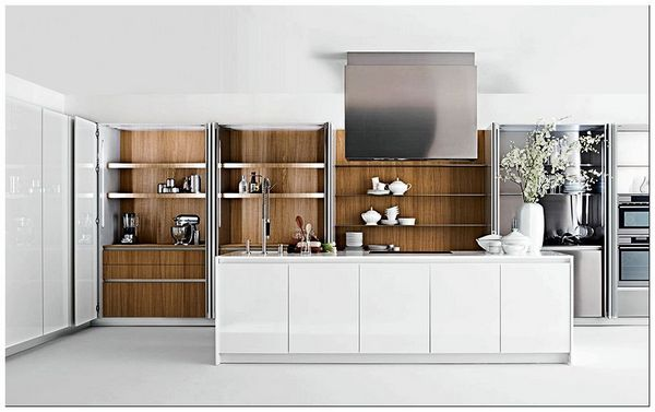 Beautifully-concealed-shelves-open-up-to-make-a-gorgeous-display - копия