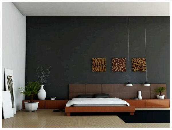 Modern bedroom interior 3d rendered