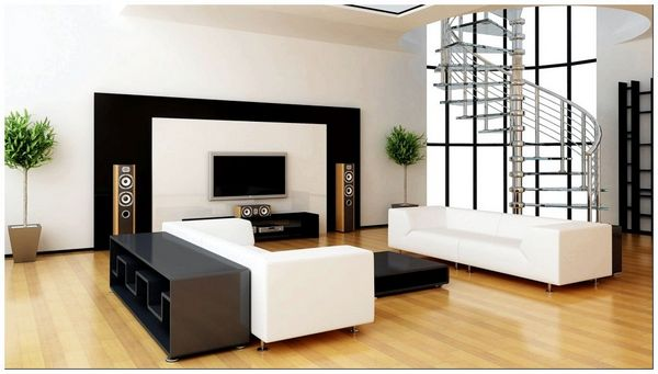interior-design-style-minimalism-sofa-white-and-black-ladder-other