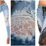 Как украсить джинсы кружевом своими руками