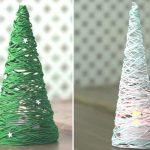 Как сделать елку из ниток и клея своими руками инструкция, фото