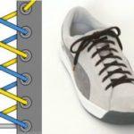 Шнуровка кроссовок с 4, 5, 6, 7 дырками