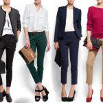 Укороченные брюки женские с чем носить, обувь