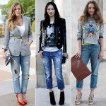 Бойфренды джинсы женские с чем носить, как сочетать и фото