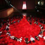 Самое длинное платье в мире сколько материи пошло, как создавалось