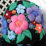 Вышивка шерстяными нитками цветы и их схемы
