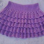Ажурная юбка спицами для девочки схемы и описание