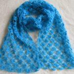 Ажурный шарф спицами и крючком вязание палантина из мохера