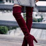 Бордовые ботфорты с чем носить (фото) – стиль, цветовые сочетания, рекомендации