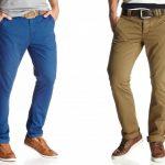 С чем носить мужские брюки чинос бежевые, синие, черные; подбираем одежду и обувь