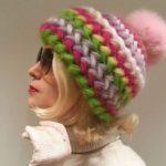 Объемная шапка крючком своими руками, на зиму, для женщин