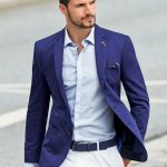 С чем носить мужской блейзер синий, цветной, обувь и аксессуары к блейзеру