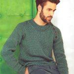 Как связать мужской пуловер, свитер, джемпер спицами и крючком (схемы и описания)