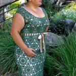 Платье крючком для полных женщин со схемами чёрное кружевное платье узором — ракушка