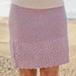 Прямая юбка крючком юбка прямая узором ананас