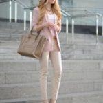 С чем носить розовый и красный жакет