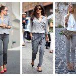 С чем носить серые женские джинсы Рекомендации по выбору обуви и аксессуаров под серые джинсы