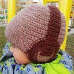 Шапка для мальчика крючком теплая зимняя шапка крючком без ушек