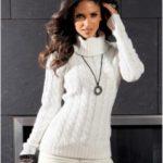 С чем носить белый свитер с какими цветами сочетается белый свитер