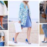 Голубые туфли с чем носить важные нюасы создания гармоничного образа