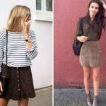 С чем носить коричневую юбку Комбинируем разные модели с другой одеждой, обувью, аксессуарами