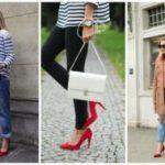 С чем носить красные туфли фото и рекомендации по созданию красивого образа