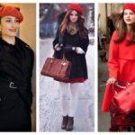 С чем носить красный берет Одежда, с которой его можно сочетать