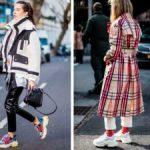 С чем носить кроссовки Баленсиага Образы с женскими кроссовками Баленсиага с леггинсами, брюками,