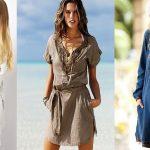 С чем носить тунику длинную, джинсовую, тунику-платье, рубашечного покроя, для полных женщин; обувь