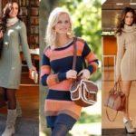 С чем носить вязаное платье Трендовые сочетания с вязаным платьем
