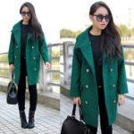 Зеленое пальто с чем носить — фото и описание модных образов