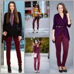 С чем носить бордовые брюки женские модные образы и современные решения
