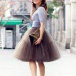 С чем одеть юбку из фатина рекомендации и модные образы