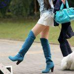 С чем носить синие ботфорты (фото) по типу фигуры, гармоничное сочетание, стиль, цветовые комбинации