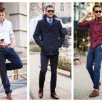 Какую рубашку надеть под темно-синие брюки мужчине по стилю и фасону, типу фигуры, цвету
