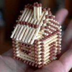Как сделать домик из спичек своими руками пошаговая инструкция