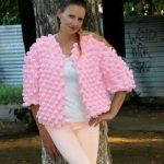 Свитер из велюровой пряжи спицами (джемпер) — велюровый женский свитер