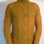Мужской свитер реглан сверху спицами свитер с регланом косичками спицами