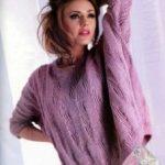 Свитер оверсайз спицами схемы и описание вязания, пошаговая инструкция, как связать свитер для