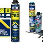 Tytan Professional клей, гермитик, монтажная пена, жидкие гвозди, мастика